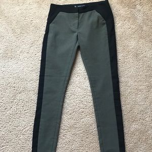 Green and Black Ankle Pants